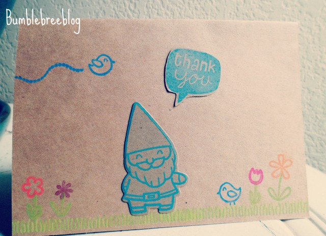 Thank You Gnome Card -bumblebreeblog