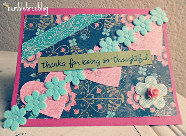 Thanks for being so thoughtful card from bumblebreeblog