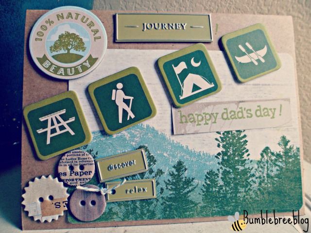 Camping themed Happy Dad's Day card from bumblebreeblog.  Perfect for Father's Day!