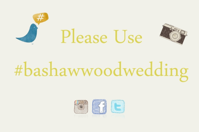 How we used #Hashtags at our wedding from bumblebreeblog