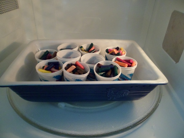 Crayons in Microwave